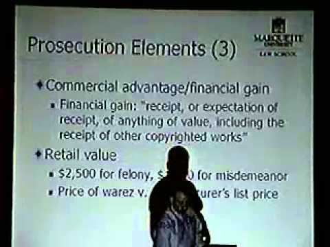 DEF CON 11 - Eric Goldman - Criminal Copyright Infringement and Warez Trading