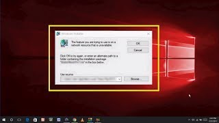 How to Fix Windows Installer Error the Feature You Trying to Use in on a Network Resource That is Un