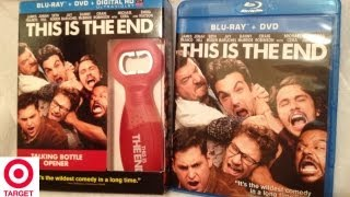 This Is The End Target Exclusive Blu-ray/DVD Unboxing w/ Talking Bottle Opener - (2013)