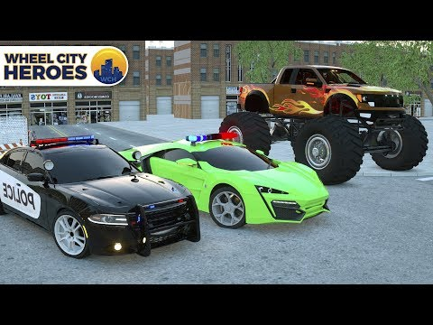 Sergeant Lucas the Police Car Lost His Light - Sport Car Jax Stole it - Wheel City Heroes Cartoon