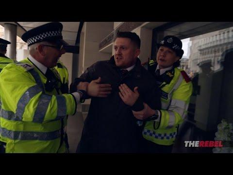 "Caolan Robertson & Tommy Robinson vs. ""anti-racists,"" police"