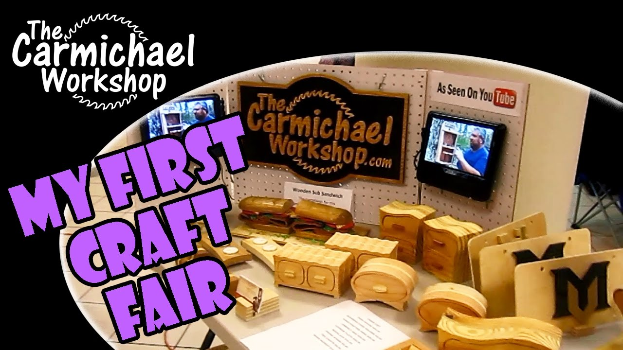 My First Festival and Craft Fair Woodworking Booth - YouTube