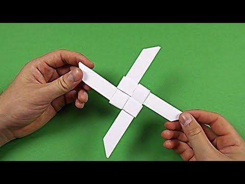 How To Make a Paper Ninja Star (Shuriken) - Origami Shuriken