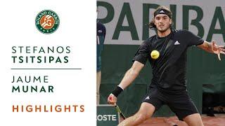 Stefanos Tsitsipas vs Jaume Munar - Round 1 Highlights | Roland-Garros 2020