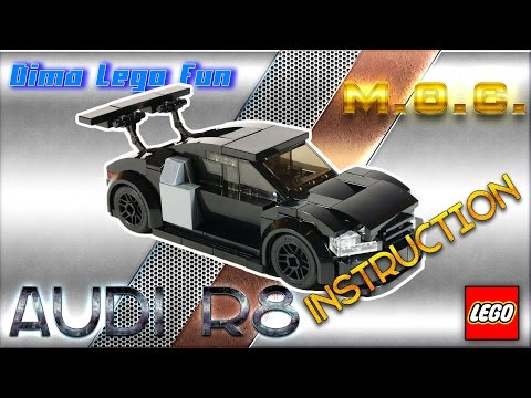 AUDI R8 HOW TO BUILD Lego #57  - Лего самоделка Audi R8 Инструкция по сборке.