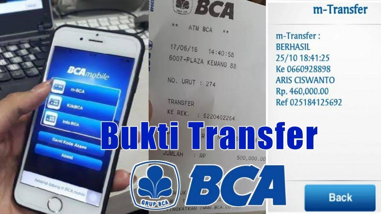 Cara Melihat Bukti Transfer Bank Bca Cara Cek Bukti Transaksi Bca Mobile Banking Youtube