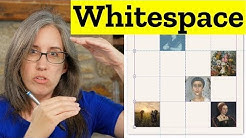 Whitespace on The Web! — with CSS Grid