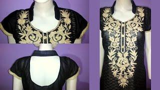 Kurti collar neck design cutting and stitching in hindi   Kurti cutting and stitching