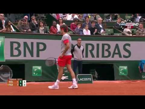 Roger Federer v. Ernests Gulbis | RG 2014 R4 Highlights HD