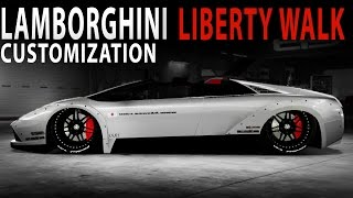"Midnight Club LA - Lamborghini Murcielago ""DUB EDITION"" (Liberty Walk) (Customization and Gameplay)"