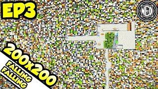 200x200 of Infinite Blocks?? | Minecraft Let's Play Ep. 3 (Custom Map)