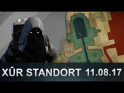Destiny: Xur Position und Inventar 11.08.2017 (Deutsch / German)