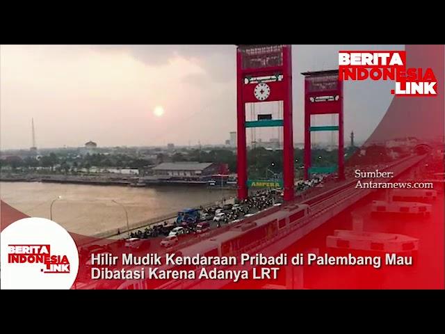 Trafik kendaraan pribadi di Palembang akan dibatasi karena adanya LRT.