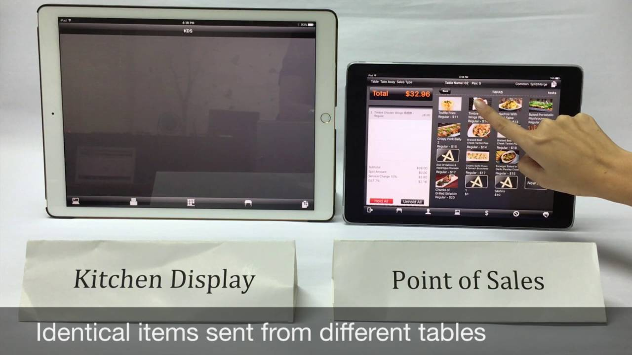 Kitchen Display Aptsys Kitchen Display System Live Demo Youtube