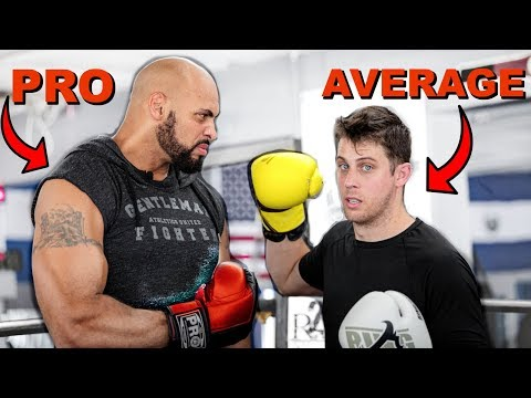 Average Guy Tries To Fight A Pro Boxer