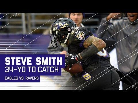 Joe Flacco Goes Deep to Steve Smith for a TD! | Eagles vs. Ravens | NFL Week 15 Highlights