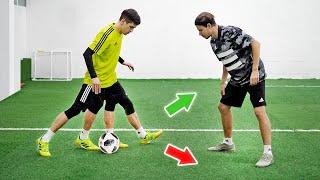 3 КРЕАТИВНЫХ ФИНТА Новые способы ЛЕГКО обыграть защитника Обучение футбол