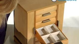 Ravella Wooden Jewelry Box Maple - Product Review Video