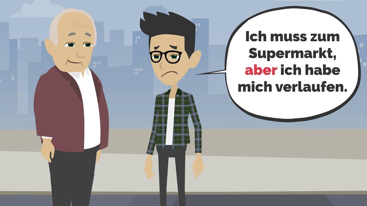 Download Deutsch lernen | Konjunktionen: aber, weil, dass..