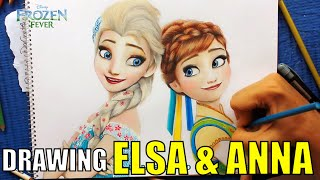 DRAWING ELSA AND ANNA (FROZEN FEVER)