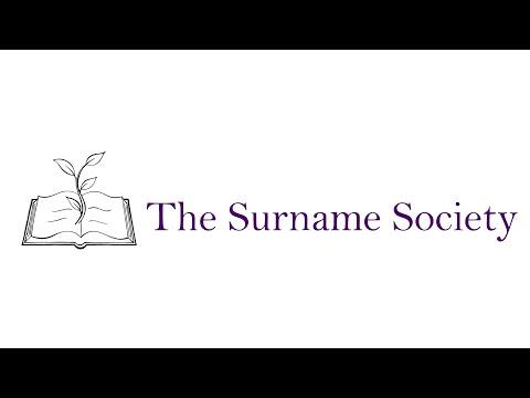 The Surname Society inaugural hangout