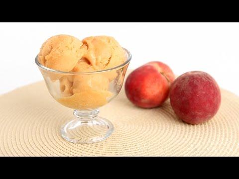 Homemade Peach Sorbet Recipe - Laura Vitale - Laura in the Kitchen Episode 809