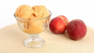 Homemade Peach Sorbet Recipe - Laura Vitale - Laura In The Kitchen Episode 809