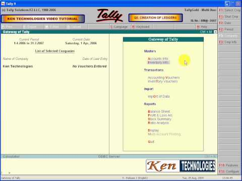 Tally Tutorials - Creation of Ledgers - Capital Account
