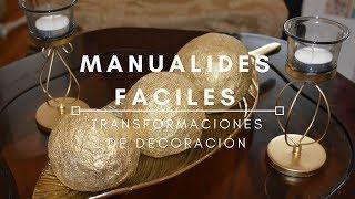 Gambar cover MANUALIDADES FACILES PARA EL HOGAR | Transformaciónes de Decoración