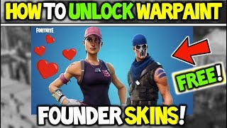 *NEW* HOW To Get the FREE WARPAINT & ROSE TEAM LEADER (FOUNDER SKINS) in Fortnite Battle Royale!