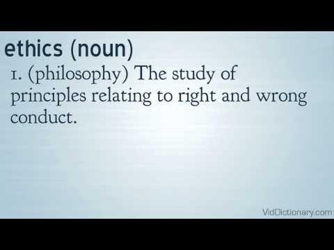 ethics - definition
