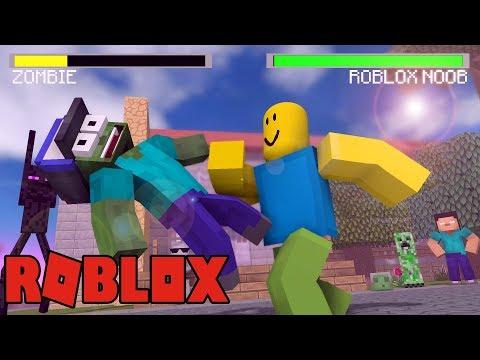 Monster School VS ROBLOX   Minecraft Animation