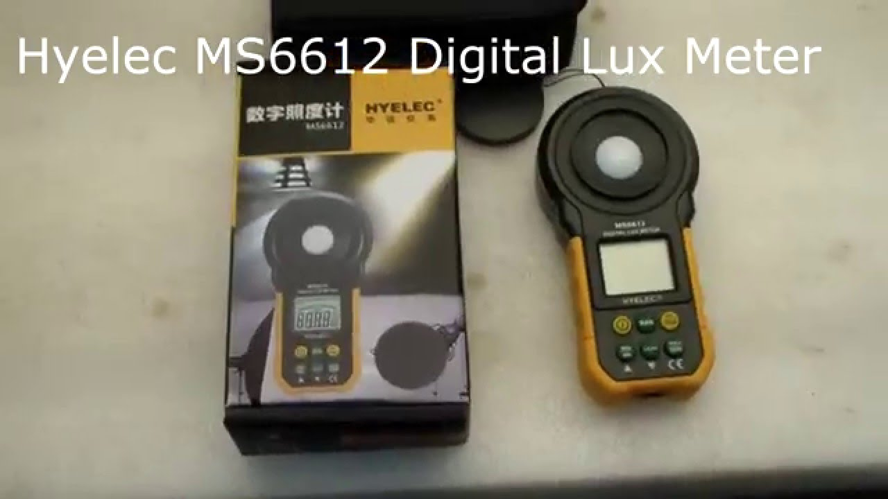 Hyelec Ms6612 Digital Lux Light Meter Review Youtube