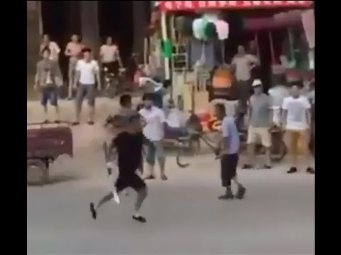 Brutal Chinese Gangster - Road Accident