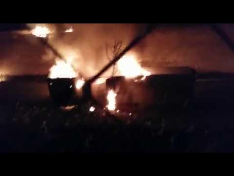 Un camión arde en Montejo de Salvatierra