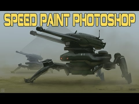 Spider Tank - Speed Paint - Photoshop - real time