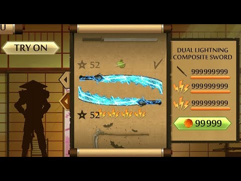 Shadow Fight 2 The Most Powerful Dual Lightning Composite Sword