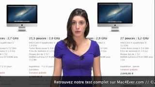 """Test de l'iMac 21,5"""" & 27"""" de 2012 // Par Océane - Mac4Ever.com"""