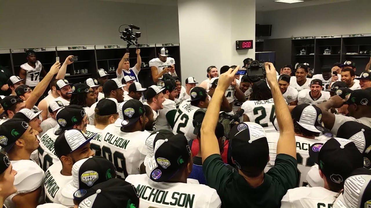 Michigan State Locker Room Cotton Bowl