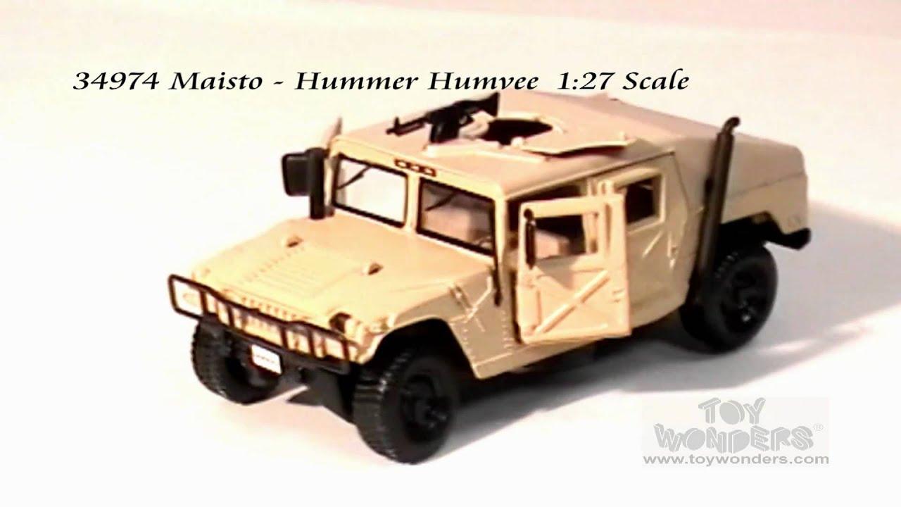 Maisto Hummer Humvee 127 Scale Diecast Wholesaleg