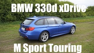 (ENG) 2014 BMW 3 Series Touring (F31 estate) - Test Drive and Review