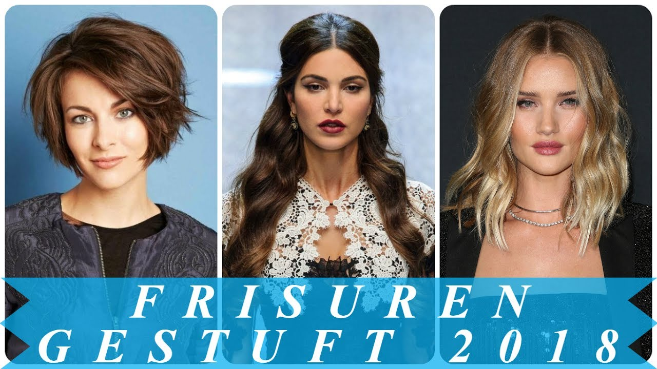 Damen Aktuelle Frisuren Stufenschnitt 2018 YouTube