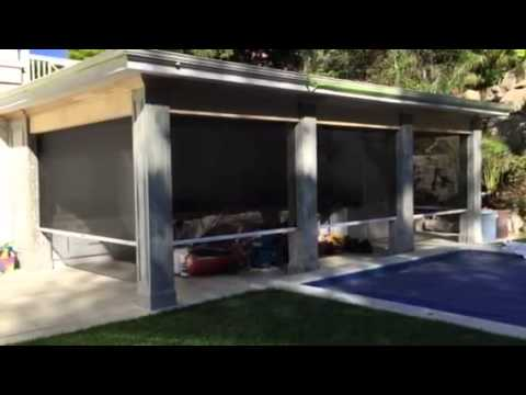 Motorized retractable screens for outdoor patios youtube for Motorized retractable screens for porches
