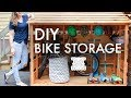 DIY Bike Storage Shed // Beginner Woodworking Project // Outdoor Storage // Storage Solutions