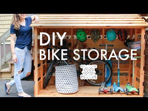 diy-bike-storage-shed-//-beginner-woodworking-project-//-outdoor-storage-//-storage-solutions