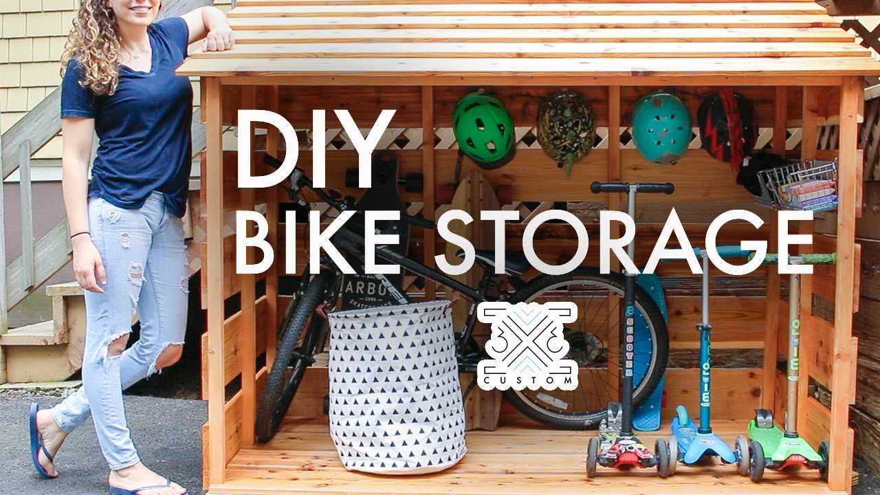 DIY Bike Storage Shed // Beginner Woodworking Project // Outdoor Storage // Storage Solutions ...