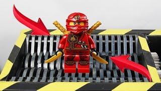 Experiment Shredding Lego Ninjago Kai | The Crusher