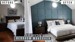 DIY DREAM BEDROOM MAKEOVER (W/ BOARD AND BATTEN ACCENT WALL )!