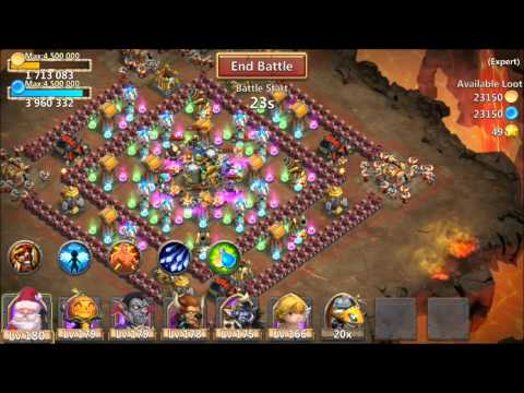 Castle Clash Expert 8 Dungeon 5 Of 10 Beaten With 3 Flames 100% Victory