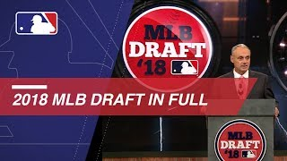 Catch every pick of the 2018 MLB Draft